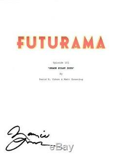 Maurice LaMarche Signed Autographed FUTURAMA Pilot Script Screenplay COA