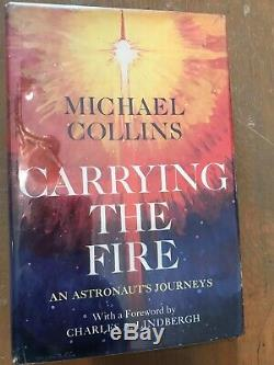 Michael Collins signed CARRYING THE FIRE, 1st/1st, photo, COA, Apollo 11 pilot