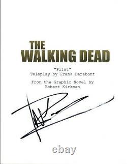 Michael Rooker Signed Autographed THE WALKING DEAD Pilot Episode Script COA VD