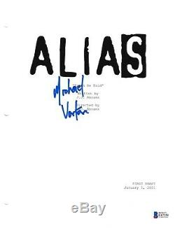 Michael Vartan Signed Alias Pilot Script Beckett Bas Autograph Auto