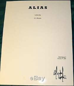 Michael Vartan Signed Autograph Alias Full 72 Page Pilot Episode Script Coa