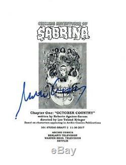 Michelle Gomez Signed Autograph Chilling Adventures of Sabrina Pilot Script COA