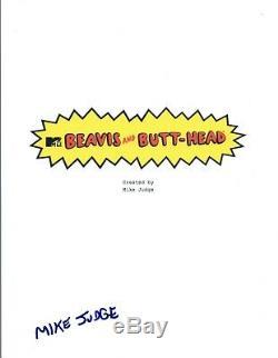 Mike Judge Signed Autographed Beavis and Butt-Head Pilot Episode Script COA VD
