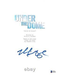 Mike Vogel Signed Under The Dome Pilot Script Beckett Bas Autograph Auto
