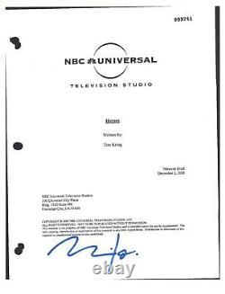 Milo Ventimiglia Signed Autographed HEROES Pilot Episode Script COA