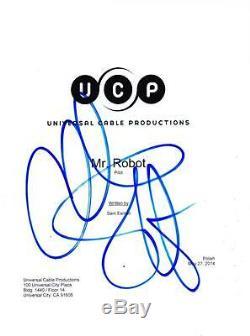 Mr. Robot Christian Slater Signed Pilot Script Authentic Autograph Coa