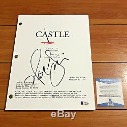 NATHAN FILLION SIGNED CASTLE FULL 66 PAGE PILOT EP SCRIPT with BECKETT BAS COA