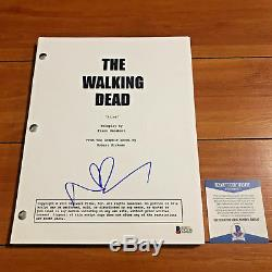 NORMAN REEDUS SIGNED THE WALKING DEAD FULL PAGE PILOT SCRIPT with BECKETT BAS COA