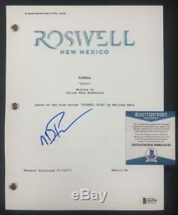 Nathan Parsons aka Max Evans signed Roswell NM pilot TV script Beckett BAS COA