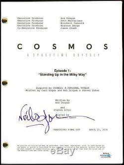 Neil deGrasse Tyson Cosmos AUTOGRAPH Signed Pilot Episode Script ACOA
