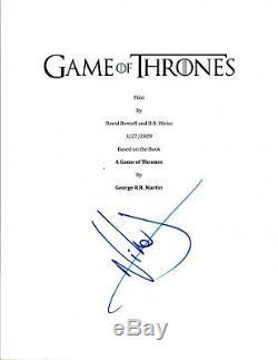 Nikolaj Coster Waldau Signed Autograph GAME OF THRONES Pilot Episode Script COA