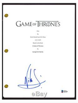 Nikolaj Coster Waldau Signed Autograph GAME OF THRONES Pilot Script Beckett COA