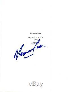 Norman Lear Signed Autographed THE JEFFERSONS Pilot Episode Script Cover COA VD