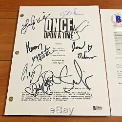 ONCE UPON A TIME SIGNED FULL 62 PAGE PILOT SCRIPT BY 8 CAST with BECKETT BAS COA