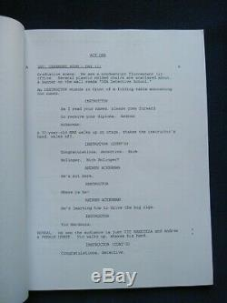 ORIGINAL SCRIPT for PILOT of THE MICHAEL RICHARDS SHOW SIGNED by RICHARDS