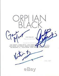 ORPHAN BLACK Signed Autographed Pilot Script Graeme Manson Bruun Gavaris COA VD
