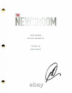 Olivia Munn Signed Autograph The Newsroom Full Pilot Script Aaron Sorkin Drama
