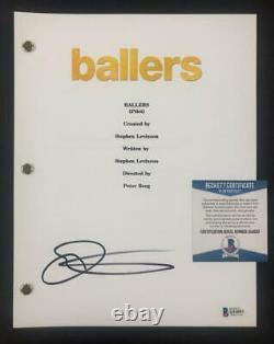 Omar Benson Miller signed Ballers full TV Pilot Script Beckett BAS COA 1