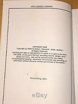 Once A Knightly Intruder By Robert Ellsworth Jones WWII Pilot Author Signed Book