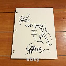 Outsiders Signed Full Pilot Script By 3 Cast Ryan Hurst David Morse Proof Coa