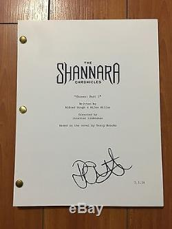 POPPY DREYTON SIGNED THE SHANNARA CHRONICLES FULL PILOT SCRIPT with EXACT PROOF
