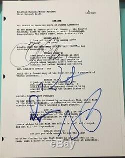 Parks & Rec Pratt Poehler & Cast Signed Autograph Pilot Show Full Script Coa