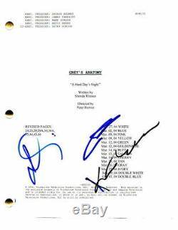 Patrick Dempsey & Kate Walsh Cast Signed Autograph Grey's Anatomy Pilot Script