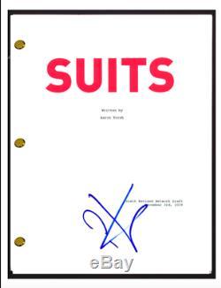 Patrick J Adams Signed Autographed SUITS Pilot Episode Script Screenplay COA