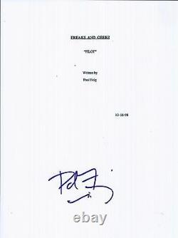 Paul Feig Signed Autographed Freaks and Geeks Full Pilot Episode Script