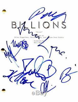 Paul Giamatti + 7 Full Cast Signed Autograph Billions Full Pilot Script