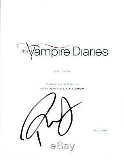 Paul Wesley Signed Autographed THE VAMPIRE DIARIES Pilot Script COA