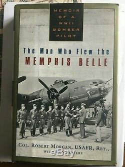 Poster of MEMPHIS BELLE B-17F and BOOK Signed by PILOT ROBERT K MORGAN