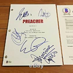 Preacher Signed Pilot Script By 5 Cast Dominic Cooper Ruth Negga Beckett Coa