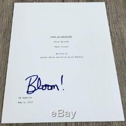RACHEL BLOOM SIGNED AUTOGRAPH CRAZY EX-GIRLFRIEND PILOT SCRIPT withEXACT PROOF
