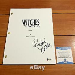 RACHEL BOSTON SIGNED WITCHES OF EAST END FULL PAGE PILOT SCRIPT with BECKETT COA