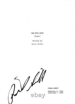 RICHARD SCHIFF SIGNED'THE WEST WING' TOBY FULL PILOT EPISODE SCRIPT withCOA