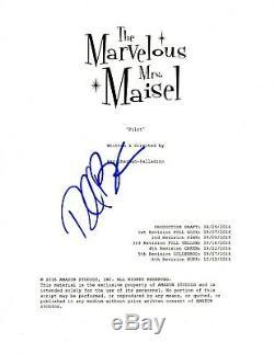 Rachel Brosnahan Autographed Marvelous Mrs. Maisel Full 84 Page Pilot Script COA