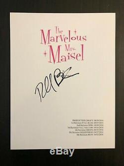 Rachel Brosnahan Signed Autograph The Marvelous Mrs Maisel Pilot Script