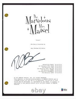 Rachel Brosnahan Signed Autograph The Marvelous Mrs. Maisel Pilot Script BAS COA