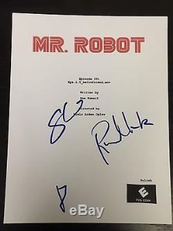 Rami Malek & Sam Esmail Signed Autograph Mr. Robot Pilot Episode Script Coa