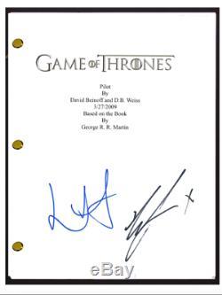 Richard Madden & Lena Headey Signed Autograph GAME OF THRONES Pilot Script COA