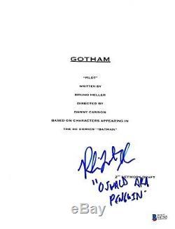 Robin Lord Taylor Signed Gotham Pilot Script Beckett Bas Autograph Auto B