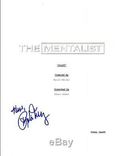 Robin Tunney Signed Autographed THE MENTALIST Pilot Episode Script COA VD