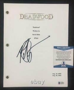 Robin Weigert aka Calamity Jane signed Deadwood TV Pilot Script Beckett BAS COA