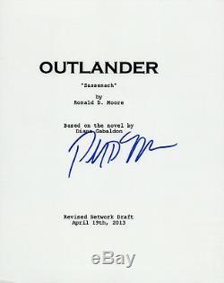 Ronald D. Moore Signed Autographed OUTLANDER Pilot Episode Script COA VD
