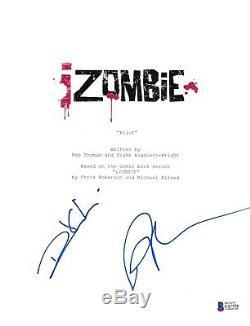 Rose Mciver Rahul Kohli Signed Izombie Pilot Script Beckett Bas Autograph Auto