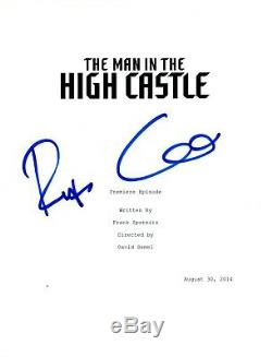Rufus Sewell Signed Autographed The Man In The High Castle Pilot Script COA