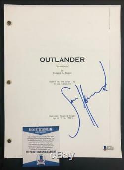 SAM HEUGHAN autograph signed OUTLANDER Pilot Episode TV Script Beckett BAS COA