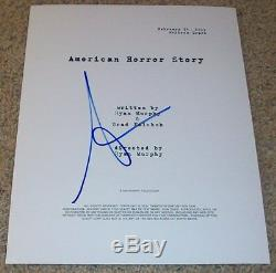 SARAH PAULSON SIGNED AUTOGRAPH AMERICAN HORROR STORY FULL PILOT SCRIPT withPROOF