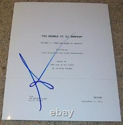 SARAH PAULSON SIGNED AUTOGRAPH THE PEOPLE V. O. J. SIMPSON PILOT SCRIPT withPROOF